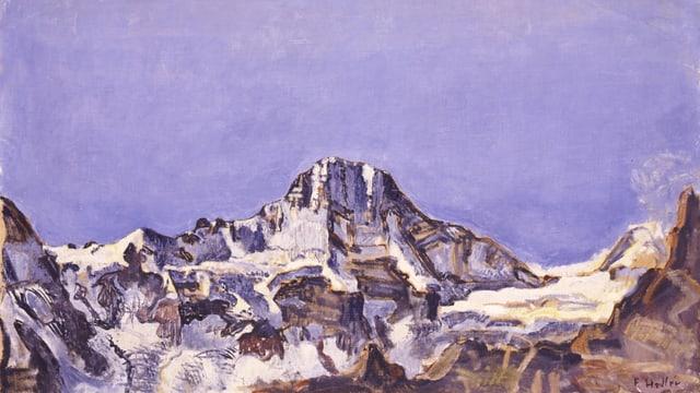Ein Bild des Breithorns von Ferdinand Hodler.