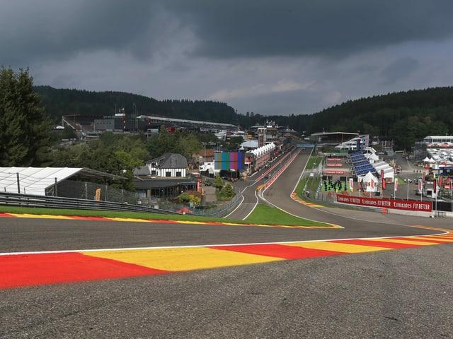 Kurve Formel-1-Rundkurs.