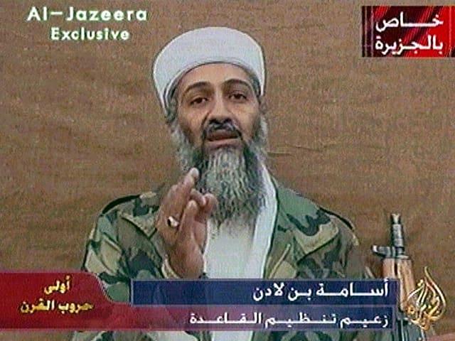 Auf einem Screenshot ist Terrorchef Osama Bin Laden zu sehen.