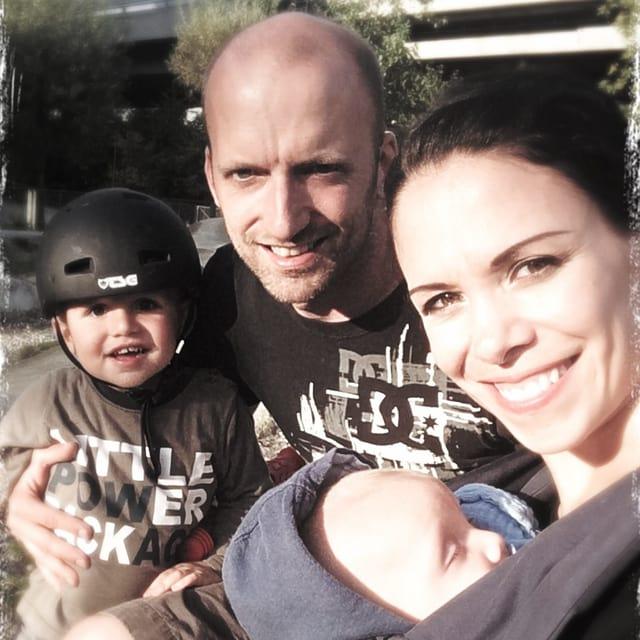 Ex Miss Schweiz Sonia Küng Grandjean mit ihrem Mann Sandro und ihren beiden Söhnen Travis und Lenny