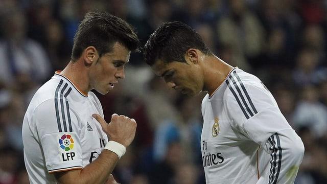 Gareth Bale (l.) und Cristiano Ronaldo.