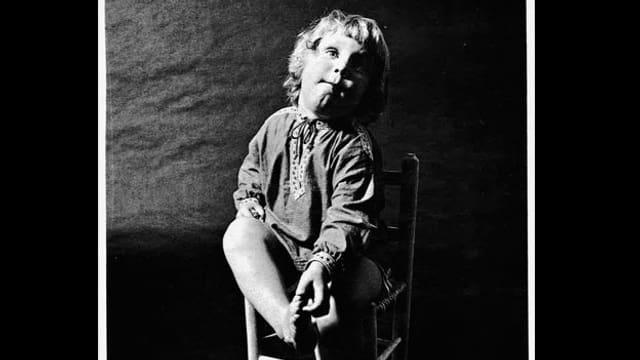 Als Kind auf einem Plattencover.