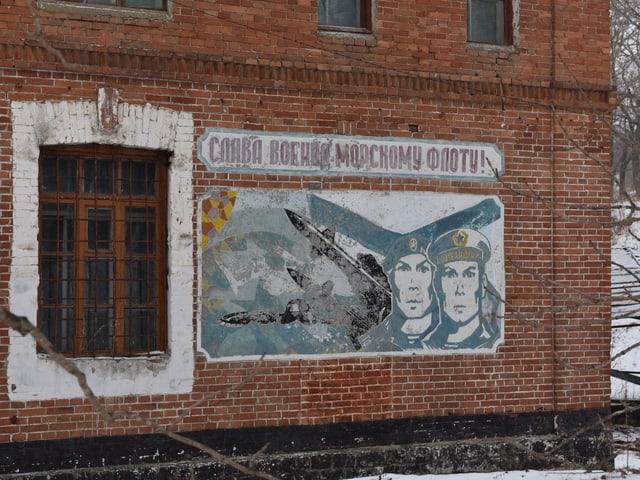 Sowjet-Propaganda an der alten Kaserne