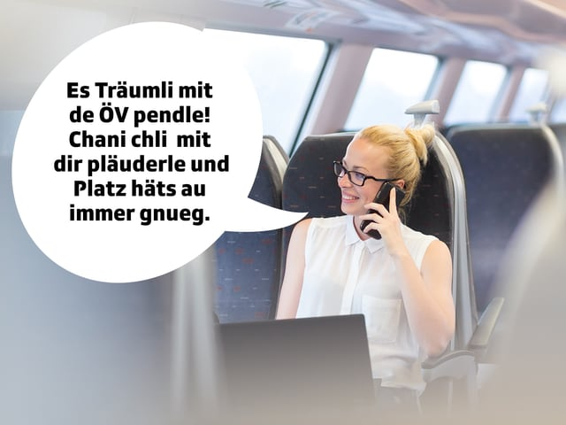 Frau im Zug.
