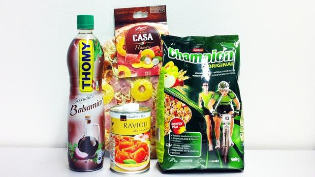Zuckerhaltige Produkte