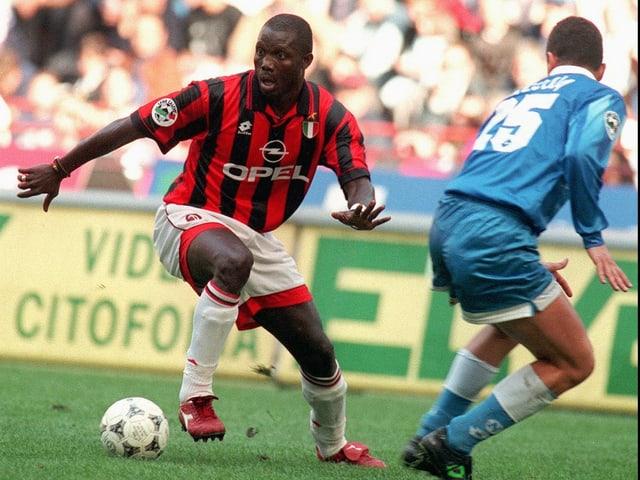 Weah im AC Milan-Dress.