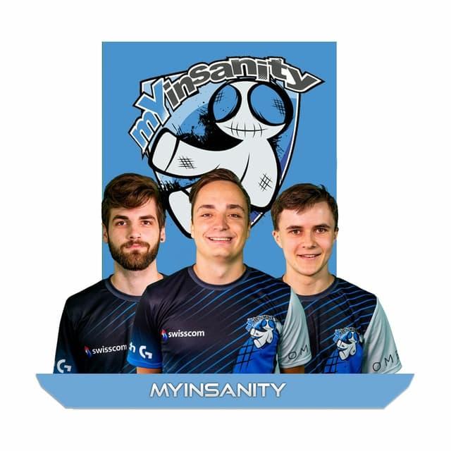 Team mYinsanity mit Logo und Fotos