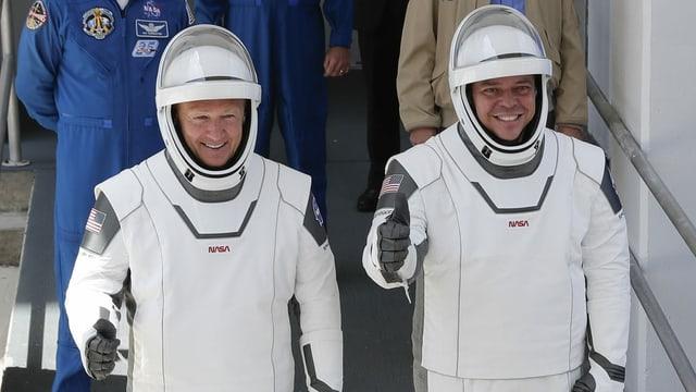 Douglas Hurley (links) und Robert Behnken