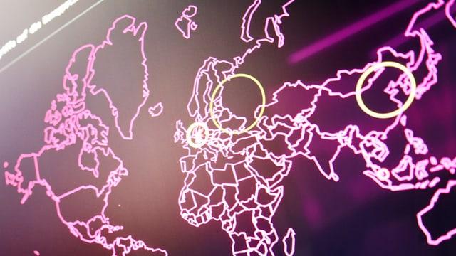 Digitale Weltkarte.