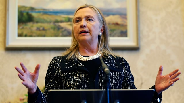 US-Aussenministerin Hillary Clinton in Nordirland.