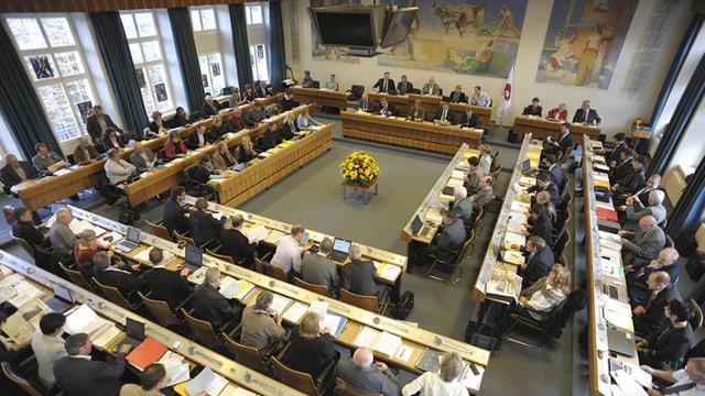 Sitzungsaal im Baselbieter Landrat.