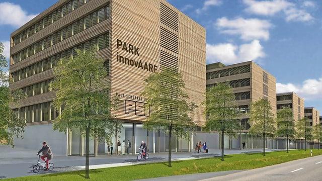 Visualisierung Innovationspark in Villigen.