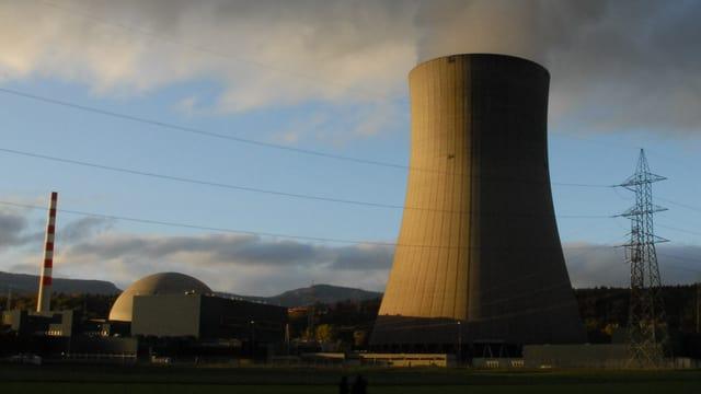 Kernkraftwerk Gösgen am Abend