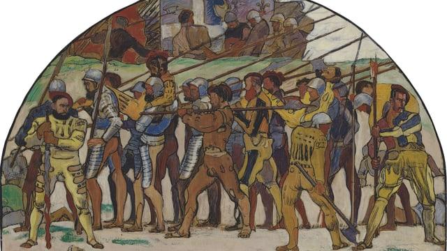 Zeichnung Schlacht von Marignano