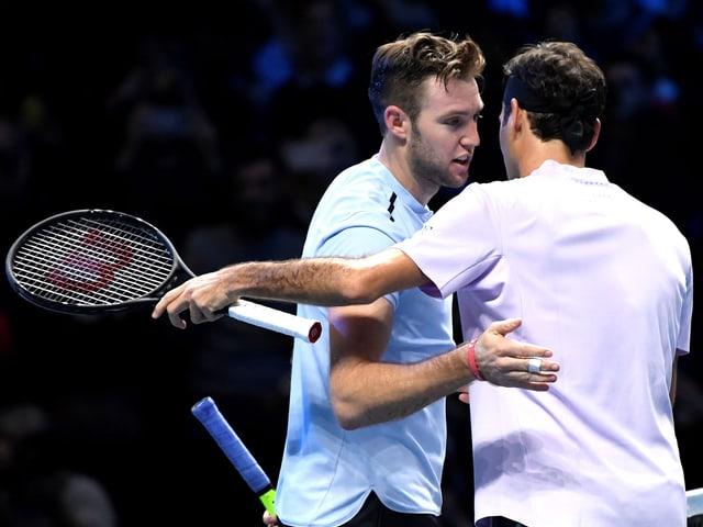 Jack Sock und Roger Federer