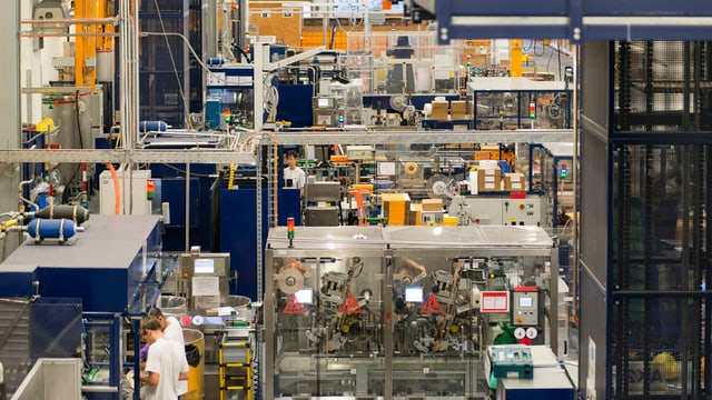 Eine Sika-Produktionsstätte in Duedingen (FR).