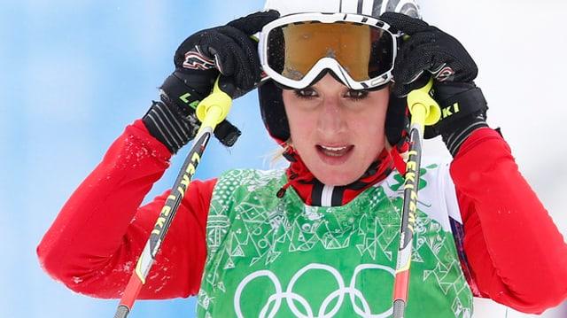 Sanna Lüdi an den Olympischen Spielen in Sotschi