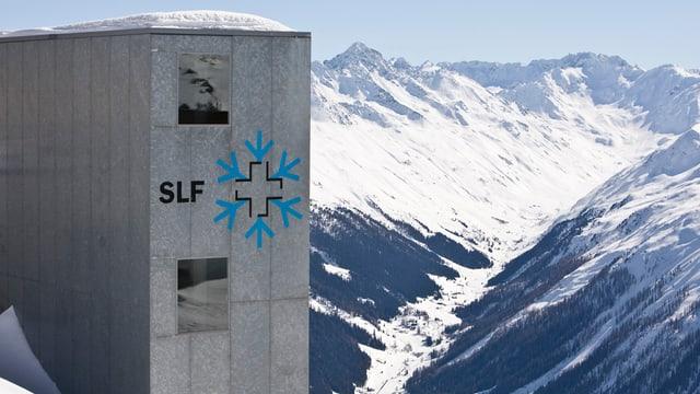 SLF-Infrastruktur in einer Winterlandschaft