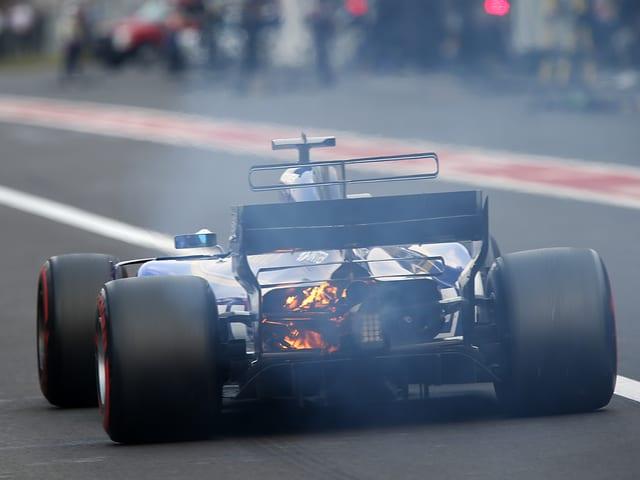 Ein Motorschaden bei Marcus Ericsson