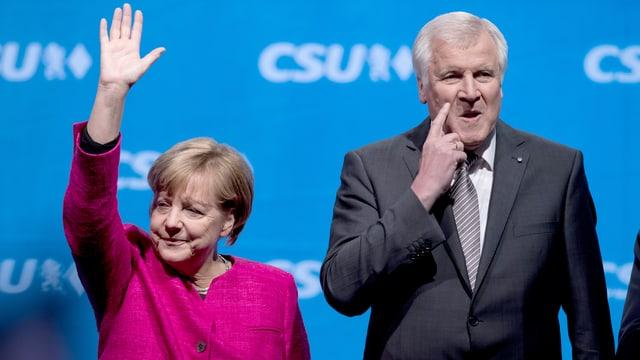 Ils dus parsuras da las partidas, Angela Merkel e Horst Seehofer.