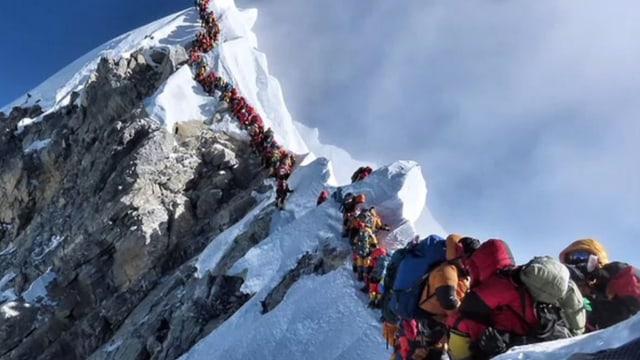 Bergsteiger am Everest.