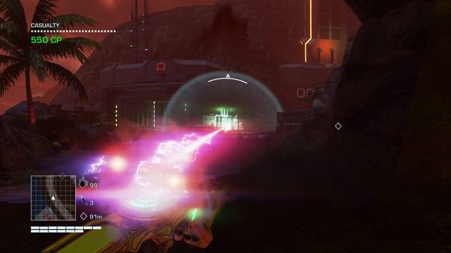 Per Laserstrahl alles zerstören.