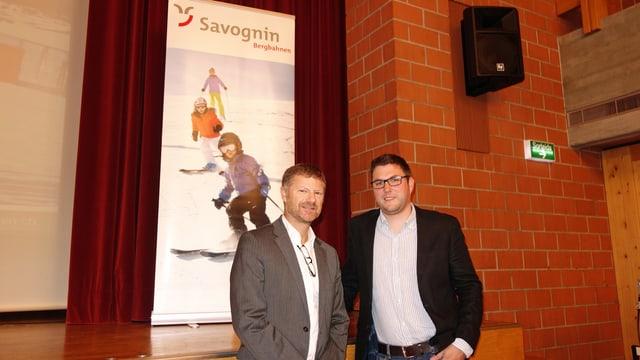 Markus Schröcksnadel (sanester) il president dal cussegl d'administraziun, e Christian Prinz, il directur administrativ.