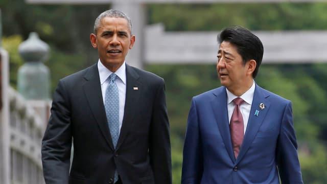 Obama und Abe