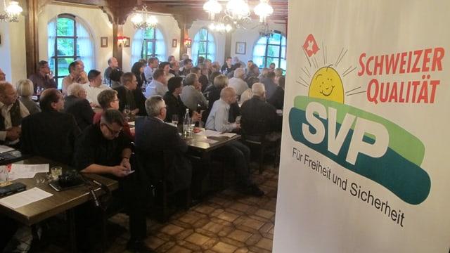Die Solothurner SVP an ihrer Delegiertenversammlung im Mai 2013 in Härkingen.