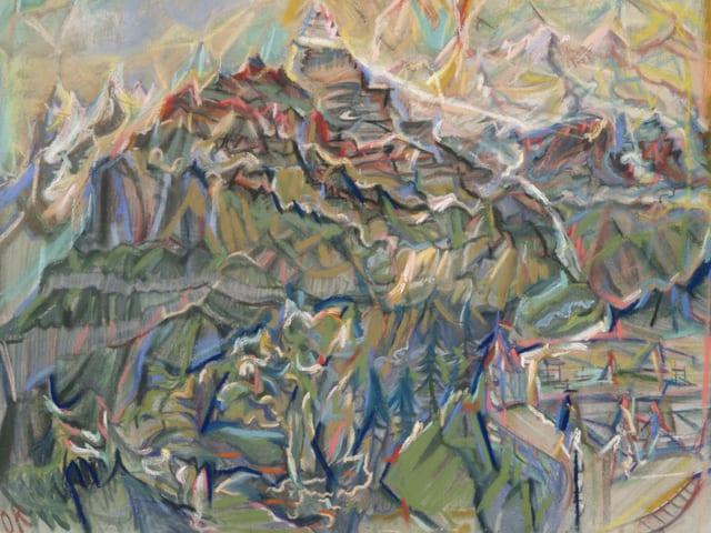 Eine abstrahierte Berglandschaft