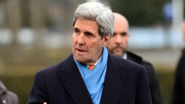 US-Aussenminister John Kerry bei den Atomgesprächen in Lausanne.
