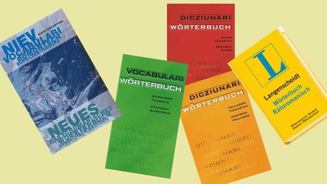 Vocabularis rumantschs - sursilvan, surmiran, putér, vallader...