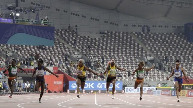 sprint 100 meters da las dunnas