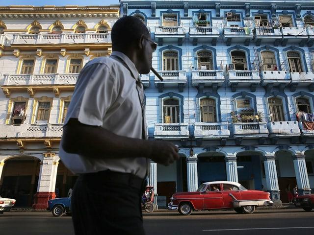 Ein Bild von Fassaden in Havanna, Kuba.