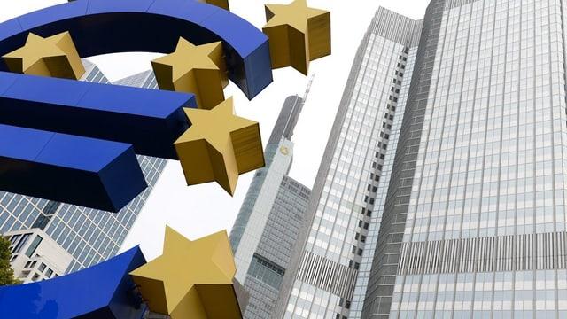 La banca centrala europeica a Frankfurt en Germania.
