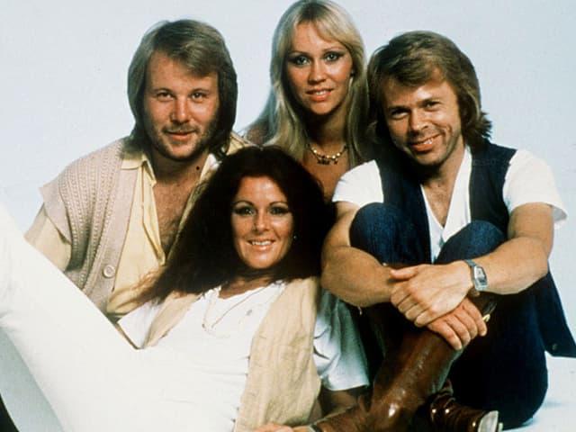ABBA zu ihren Glanzzeiten in den 1970-er Jahren.