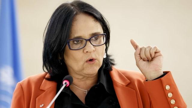 Die brasilianische Familienministerin Damares Alves.
