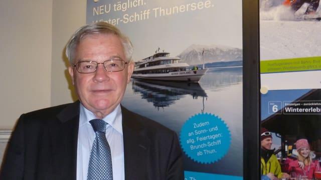 Hans Meiner, Leiter der BLS-Schifffahrt auf dem Thuner- und Brienzersee