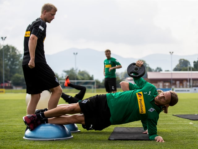 Michael Lang im Training.