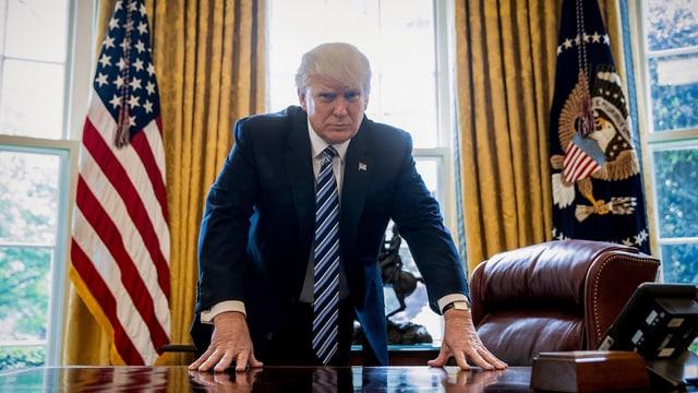 President Trump en l'Oval Office.