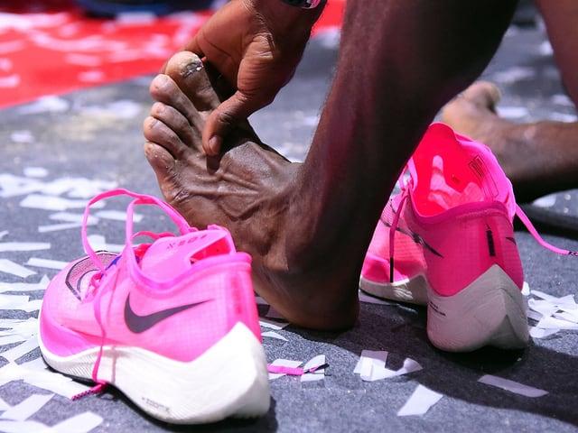 Neue Schuhe und Fuss