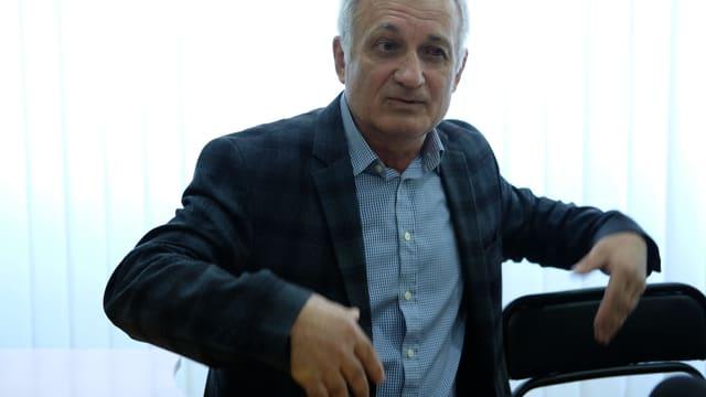 Wolodymyr Tignjan, der ehemalige Physiklehrer von Selenski.