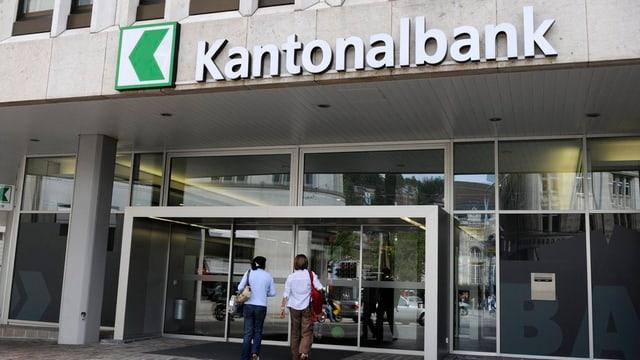 Eingang der St. Galler Kantonalbank.