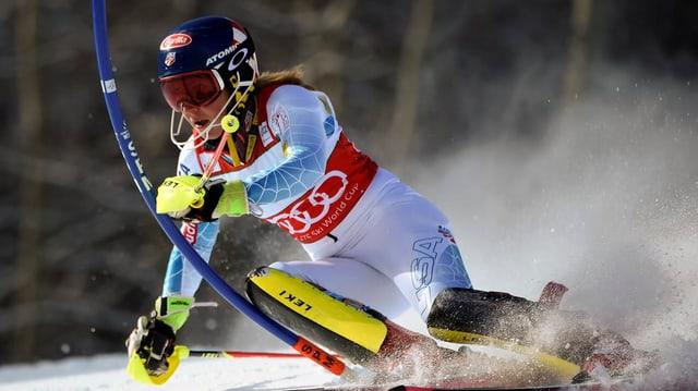 La skiunza americana Mikaela Shiffrin.