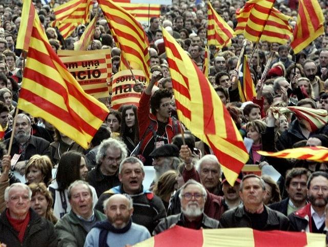 Pro-katalanische Demonstration im Jahr 2006.
