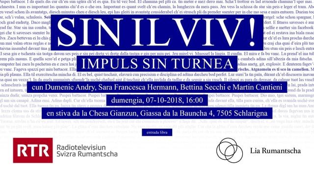 Flyer per la lectura a Schlarigna