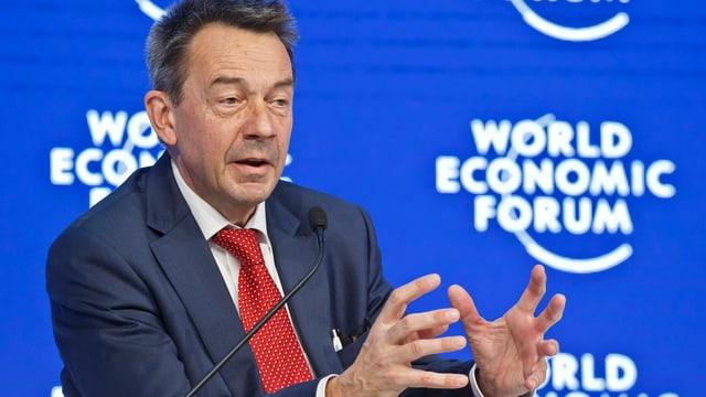 IKRK-Präsident Peter Maurer spricht am WEF in Davos über die Herausforderungen der humanitären Hilfe.
