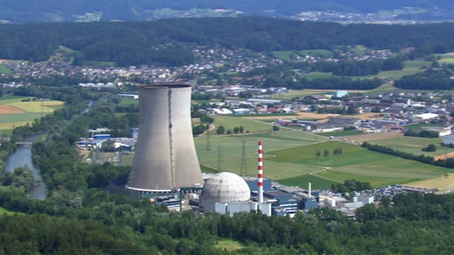 Kernkraftwerk Gösgen aus der Luft.