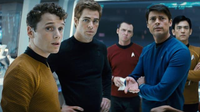 Yelchin (links) als Chekov in «Star Treck».