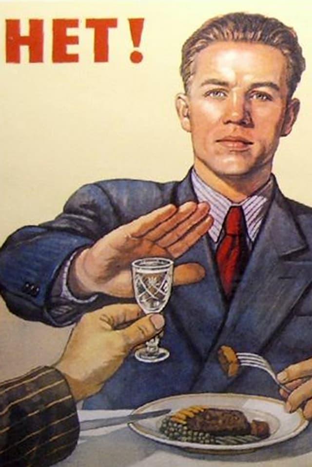 Anti-Alkohol-Plakat aus dem Jahr 1954.